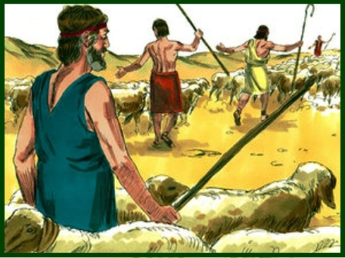 7 Jacob sends gifts to Esau