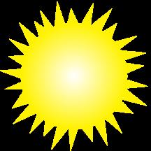 16 shining sun